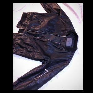 Ci Sono Faux Vegan Leather Jacket
